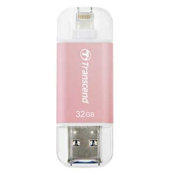 Transcend JetDrive Go 300 32GB USB3.1 Apple ios OTG  隨身碟-玫瑰金