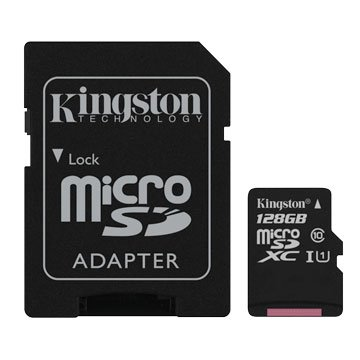 Kingston Micro 128G U1 C10附转卡(读80MB)