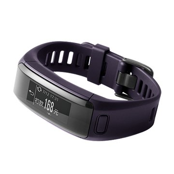 GARMIN  vivosmart HR iPass心率智慧手環/紫