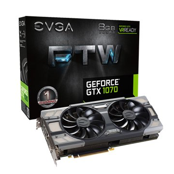 艾維克EVGA GTX1070 8GB FTW BP 2BIOS ACX3