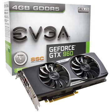 EVGA 艾維克 GTX960 4GB SSC ACX2.0+ BP 2BIO
