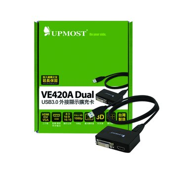 UPMOST 登昌恆 VE420A/USB3.0 外接顯示擴充卡