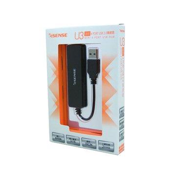 U3(黑)迷你4埠USB 2.0 HUB