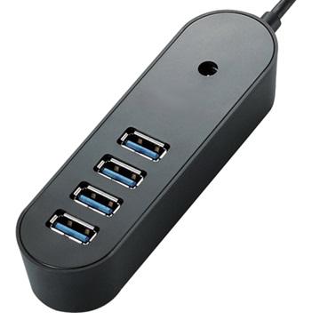 iCooby  U2-07-B 4埠 USB2.0 HUB黑