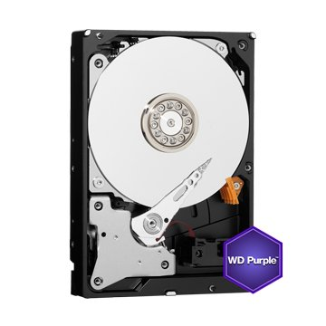 WD 4TB 3.5吋 64MB SATAIII 紫标硬盘(40PURZ)