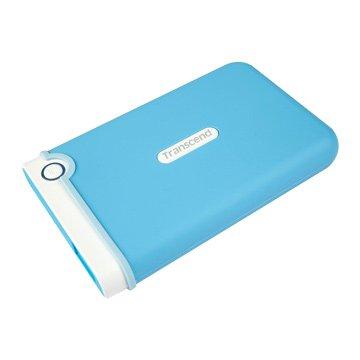Transcend 創見 StoreJet 25M3 軍規防震 2TB 2.5吋 外接硬碟-水漾藍