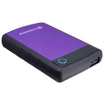 Transcend StoreJet 25H3 軍規防震 4TB 2.5吋 外接硬碟-紫