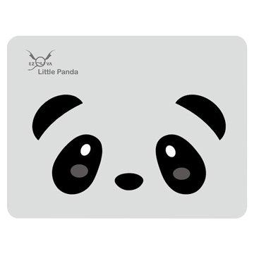 竹炭滑鼠墊/熊貓/灰底