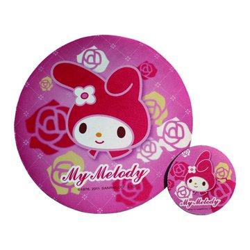 美樂蒂-玫瑰/高彈性子母型滑鼠墊