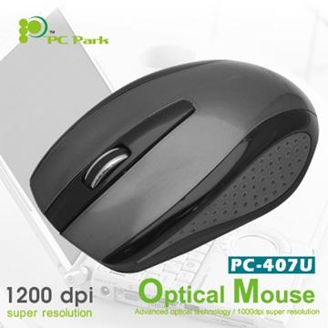 PC Park  PC-407UBG光學滑鼠/USB(黑)