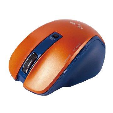 Lexma  M810R 極致人體工學手感 無線藍光鼠(橘)