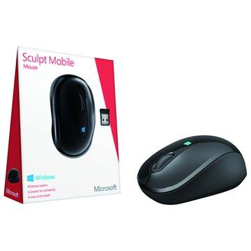 Microsoft Sculpt無線行動滑鼠(黑)
