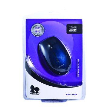 藍/AMJ-038光學滑鼠/USB