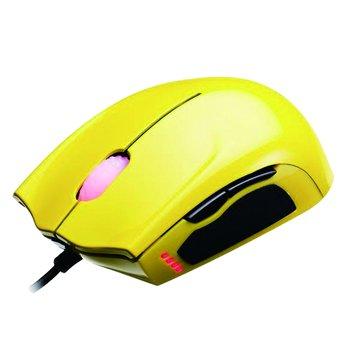 曜越 聖武士SAPHIRA光學電競滑鼠/USB(黃)