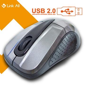 Link All  M3097BS光學滑鼠/USB(銀灰)