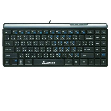 WINTEK 文鎧 WK690BK/超薄迷你鍵盤/USB(黑)