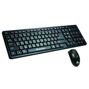 WINTEK 文鎧 WM600二代新黑蝙蝠光學鍵鼠組P+U(黑)