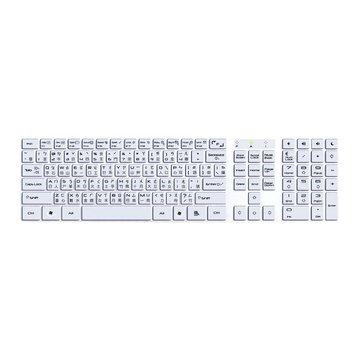 白/WK550白白天使多媒體超薄鍵盤/USB(福利品出清)