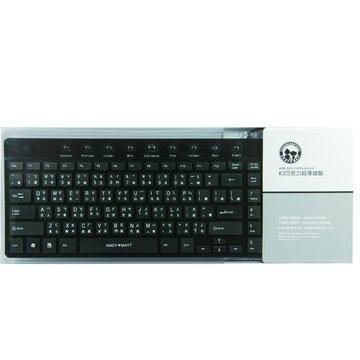 黑/K3巧克力超薄鍵盤/USB(福利品出清)