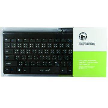 黑/K6巧克力超薄鍵盤/USB(福利品出清)