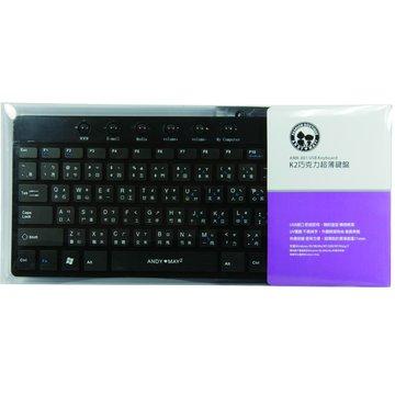 黑/K2巧克力超薄鍵盤/USB(福利品出清)