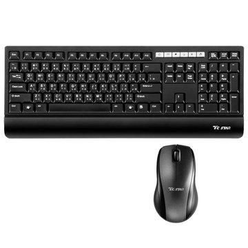 TCK969 2.4G無線鍵鼠組(黑)(福利品出清)