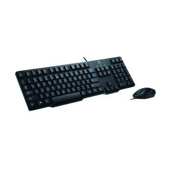 Logitech 羅技 MK100有線鍵鼠組二代/P+U(黑)