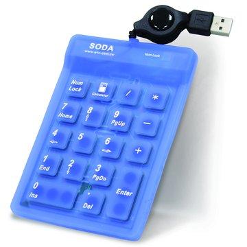 LK411數字鍵盤/USB(藍)(福利品出清)