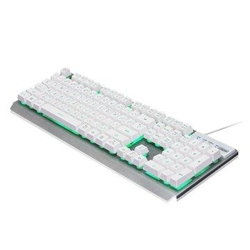 i-rocks 艾芮克 K62多色彩金屬背光遊戲鍵盤/USB(白)