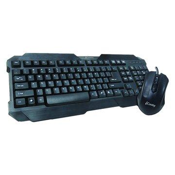 黑/KB728MU遊戲造型鍵鼠組/USB(福利品出清)