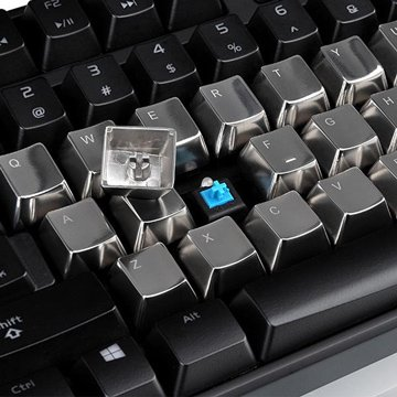 機械式鍵盤金屬鍵帽QWER四顆