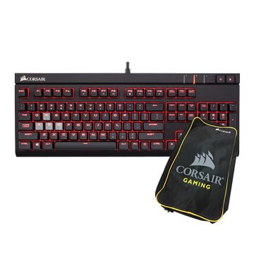 CORSAIR STRAFE 紅軸/機械鍵盤送鍵盤包(中文版)
