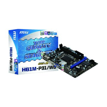 MSI 微星 H61M-P31/W8/H61/1155 主機板