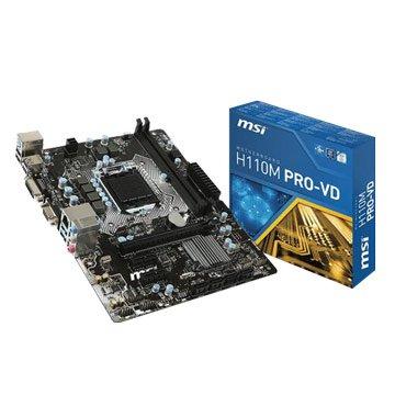 MSI 微星 H110M PRO-VD/Intel/1151主機板