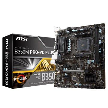 MSI 微星 B350M PRO-VD PLUS (AM4)