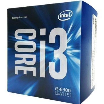 Core I3-6300/3.8G/雙核心/1151
