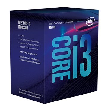 INTEL Core i3-8100/3.6GHz /四核/LGA1151V2