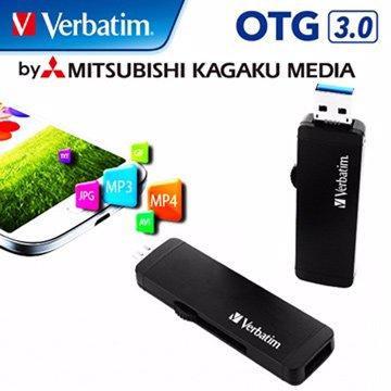 Verbatim 威寶 64GB USB3.0 micro USB OTG  隨身碟-黑