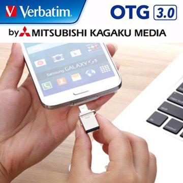 Verbatim 威寶 Micro 32GB USB3.0 micro USB OTG  隨身碟-銀