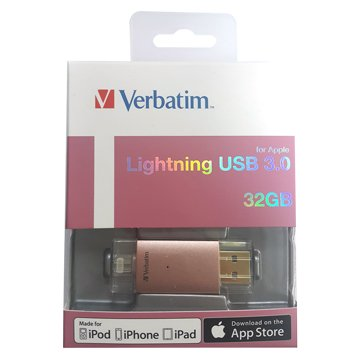 Verbatim 威寶 Lighting 32G USB3.0 Apple OTG 隨身碟-玫金