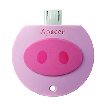 AH171 8GB micro USB OTG 粉紅豬隨身碟-