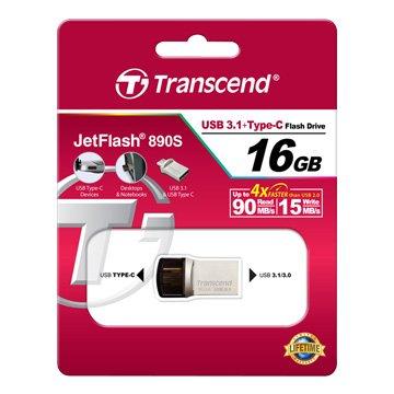 JetFlash 890  16GB USB3.0 type-c OTG  隨身碟-銀