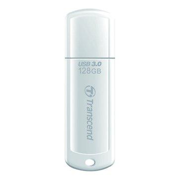 Transcend 創見 JetFlash 730 128GB USB3.0   隨身碟-白