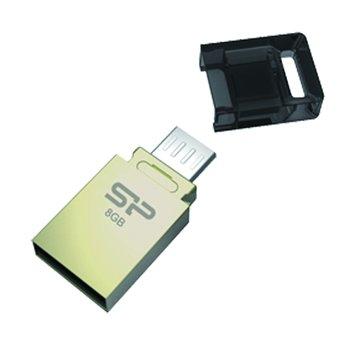 Mobile X10  8GB micro USB OTG  隨身碟-金