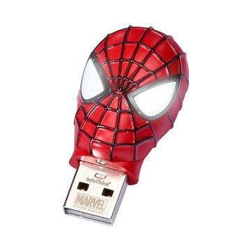 InfoThink蜘蛛人28GB造型隨身碟-紅