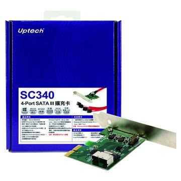 SC340 4埠SATAIII擴充卡PCI-e
