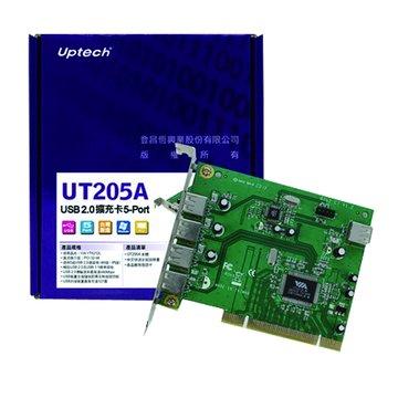 UT205A 5埠USB2.0擴充卡PCI