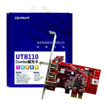 UTB110 3埠1394擴充卡PCI-E(1394a*1+b*2)