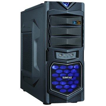 SUNFAR 順發 1619B 3大/黑 電腦機殼