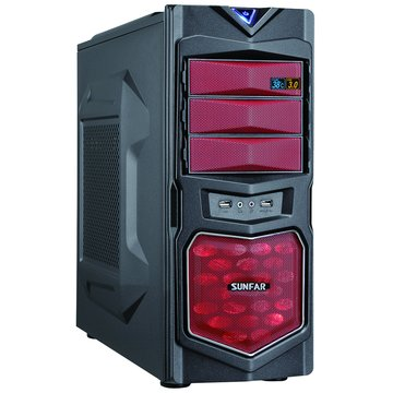 SUNFAR 順發 1619BR 3大/黑紅 電腦機殼